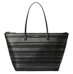 Kate Spade Hani Haven Lane Glitter Tote Bag
